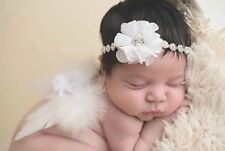 Girls Boys Newborn Baby White Angel Wings Blink Headband Photo Photography Prop