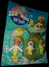 Vintage Kenner Sea Wees Icy Gals Doll Shelly Baby Pearl Shivers Comb Iceberg NEW