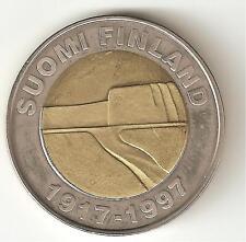 Finlandia 25 marchi 1997  bimetallica perfetta