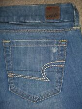 AMERICAN EAGLE Real Flare Stretch Destroyed Denim Jeans Womens Size 0 x 33