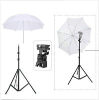 Continuous Lighting Kit Flash Bracket B Mount + Light Stand + Umbrella Reflector