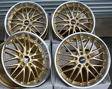 "18"" GOLD 190 ALLOY WHEELS FITS BMW 5 + 8 SERIES E12 E28 E34 E39 E60 E61 E31"