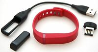 NEW Fitbit Flex RED Fitness Small Wristband Training activity tracking bluetooth