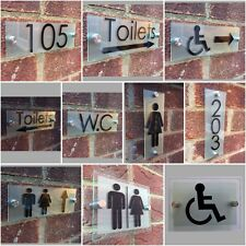 bathroom sign with arrow guiding toilet arrow sign plaque male female plaques modern style buy arrow toilet decorative plaques signs ebay