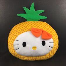 "2015 Hello Kitty Pillow Plush Pineapple McDonald's Sanrio Rare Fruit Farm 12"""