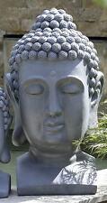 riesiger Buddhakopf 60cm grau Steinoptik Buddha Kopf MODELL