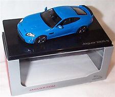 Jaguar XKR-S French Racing Blue Dealer model 1-43 New Ixo Branded