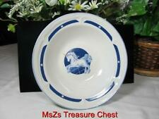 "Tienshan Blue Fantasy Unicorn Stoneware 9"" Round Vegatable Serving Bowl"