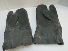 Post Ww2 Usn Us Navy Wet Weather Uniform Gloves Mittens Deck Rubberized Nos