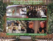 Chad 2018 MNH Prince Harry & Meghan Royal Wedding 4v Impf M/S II Royalty Stamps