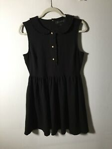 Tahari Womens Black Fit And Flare Dress Size 12 Sleeveless Good Condition