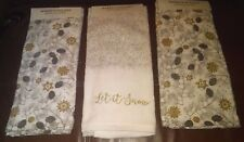 """Maker's Holiday Hand Towels  """"Let it Snow"""" Set of 3"""
