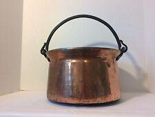 Antique Copper Garden Planter Flower Pot Iron Handle or Firewood Bucket Holder