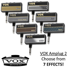 More details for vox amplug 2 mini headphone guitar amplifier - multiple effects available