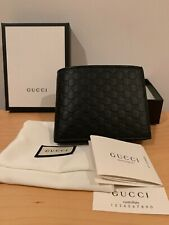Brand New Gucci Bi-Fold Black Leather Wallet