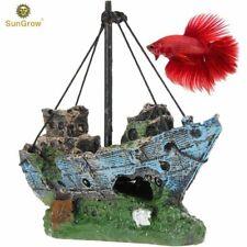 Sunken Wreck Fishing Boat Toy: Aquarium & Home Decor, Fish Habitat, Vintage Look