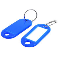 Key Ring Tags(100pcs blue) C3X5 G6U6