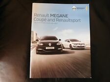 Renault Megane Coupe and RenaultSport Brochure 2016 - RS 275  GT GT Line Dynamiq