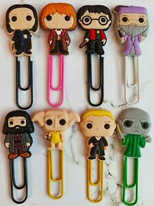 HARRY POTTER Paperclip Bookmarks x8 HOGWARTS cute school birthday party gifts