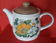 Vintage Teapot by Sadler, England With Yellow Poppies & Daises