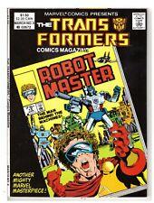 Transformers Comics Magazine #8 NM- (9.2) Marvel Comic 1988 HIGH GRADE COPY