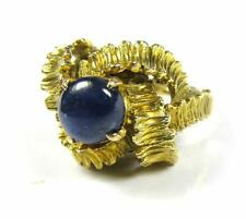 Antique Engagement Women Ring 2.8CT Blue Sapphire 14K Yellow Gold  VideO