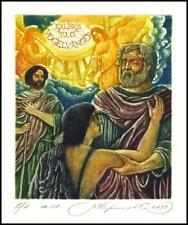 Kirnitskiy Sergey 1998 Exlibris C4 The Return of the Prodigal Son Music Angel 6