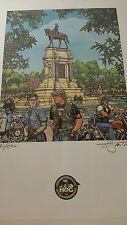 PAUL SMITH 1995 HOG ANNUAL RALLY RICHMOND, VA NUMBERED PRINT WITH CERTIFICATE