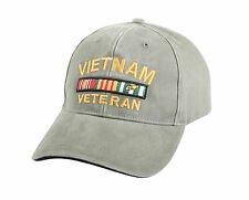 Vintage Deluxe Low Pro Military Insignia Cap 'Vietnam Veteran' - OD Adjustable