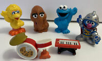 "6pc Sesame Street 3"" Cake Topper Snuffy Big Bird + PVC Figures Hasbro 2010 2011"