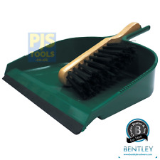 Bentley large wide mouth green plastic jumbo dustpan & brush set