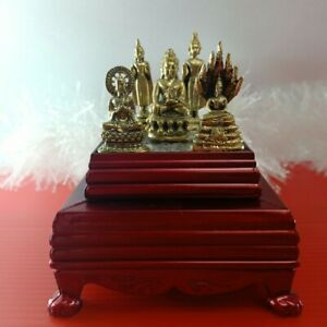 1 x 5 Thai Amulet Buddha Talisman Statue Brass Prayer Meditation Holy Powerful