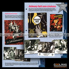 #jh738.01 ★ FILMS : 'DOSSIER 1413' & 'LES PARISIENNES' ★ Fiche JOHNNY HALLYDAY