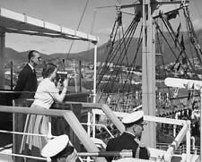 Queen Elizabeth II and Prince Philip in Tasmania 1954 ROYALTY OLD PHOTO