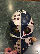 Vintage 1970s Cooper Hockey Goalie Mask Red White & Blue **EXTREMELY RARE**