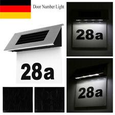 Solar Hausnummer Beleuchtung Solarlampe Außenbeleuchtung Hausbeleuchtung