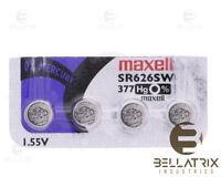 4 pcs MAXELL 377 WATCH BATTERIES SR626SW
