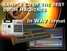 Sample CD: analog Drum Machine synthesizer Linn Emu Akai Roland Tr 808 909 Eko