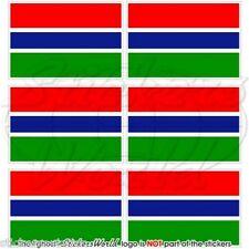 GAMBIA Bandiera Commonwealth, Africa Adesivi per Cellulare Mini Sticker, x6