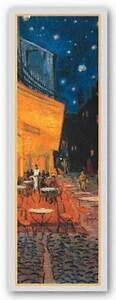MUSEUM ART PRINT Cafe Terrace at Night Detail Vincent van Gogh 11.25x37