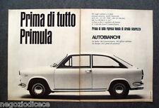 O164 - Advertising Pubblicità - 1967 - AUTOBIANCHI , PRIMA DI TUTTO PRIMULA