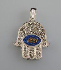 Hand der Fatima Nazar Boncuk Talisman Anhänger silber 925  ** TOP Qualität **