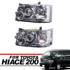 For Toyota Hiace200 Van 2005~2009 Projector Lens Crystal Angel-eye LED Headlight