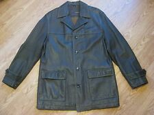 Brown Rogue Leather Coat By Reilly Olmes Soft Leather Mens Jacket Size Medium