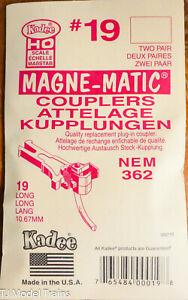 Kadee HO #19 NEM (362) European-Style Mount Knuckle Coupler - Magne-Matic