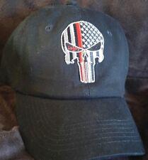 Thin Red Line Punisher Ball Cap  USA flag EMT, Rescue,Fire, Paramedics SWAT