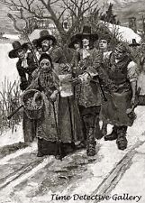 Arresting a Witch by Howard Pyle - 1883 - Historic Illustration Print