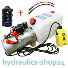 Hydraulikpumpe + FUNK, 8L 12V Hydraulikaggregat für LKW Kipper Anhänger Stapler