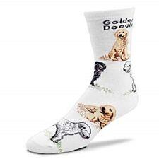 New! Fbf Originals Golden Doodle Novelty Dog Womens Crew Socks Medium Fits 6-11