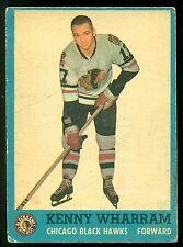 1962 63 TOPPS HOCKEY 39 KENNY WHARRAM VG CHICAGO BLACKHAWKS CARD